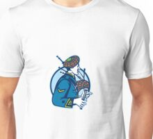 Bagpiper Bagpipes Scotsman Retro Unisex T-Shirt