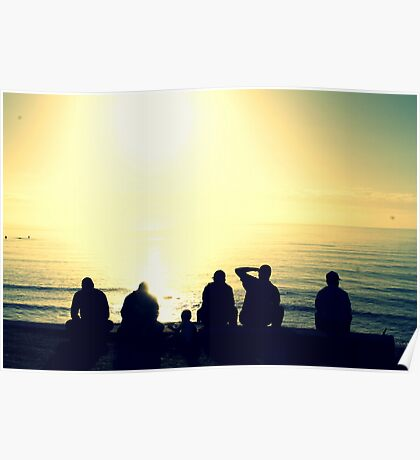 Sunrise Silhouettes Poster