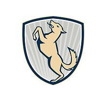 Prancing Dog Side Shield  by patrimonio