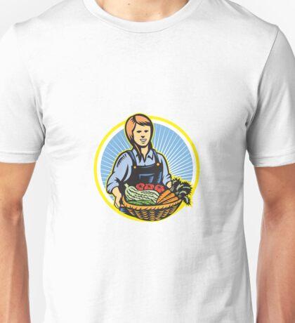 Organic Farmer Farm Produce Harvest Retro Unisex T-Shirt