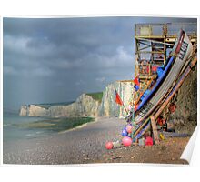 The Fishing Boat - Birling Gap - HDR Poster