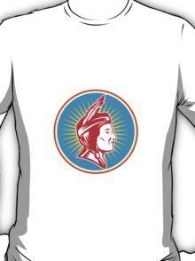 Native American Indian Squaw Woman T-Shirt