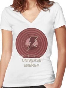 Universe of Energy Women's Fitted V-Neck T-Shirt