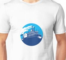 Steamboat Ferry Passenger Ship Retro Unisex T-Shirt