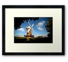Wilton Windmill evening shadows 2 Framed Print