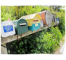 Letter Boxes Poster