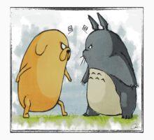 Jake vs Totoro Kids Tee