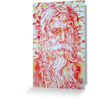 TAGORE - watercolor portrait Greeting Card