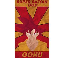 Super Saiyan God Goku Photographic Print