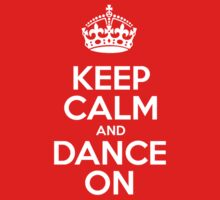 Keep Calm and Dance On - Red Leather One Piece - Short Sleeve