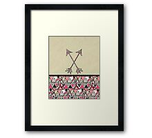 Retro Tribal Arrows Vintage Earth Aztec Pattern Framed Print