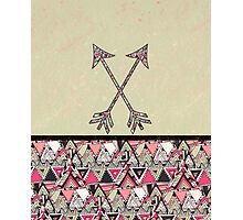 Retro Tribal Arrows Vintage Earth Aztec Pattern Photographic Print