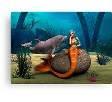 Sad Mermaid Canvas Print