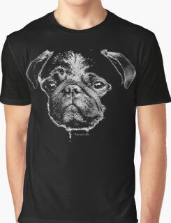 mops puppy white - french bulldog, cute, funny, dog Graphic T-Shirt