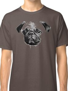 mops puppy white - french bulldog, cute, funny, dog Classic T-Shirt