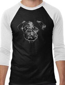 mops puppy white - french bulldog, cute, funny, dog Men's Baseball ¾ T-Shirt