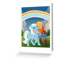 Night Glider and Megan Greeting Card