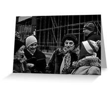 chatting ladies Greeting Card