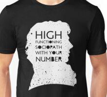 High Functioning Sociopath - White Unisex T-Shirt