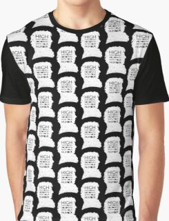 High Functioning Sociopath - White Graphic T-Shirt