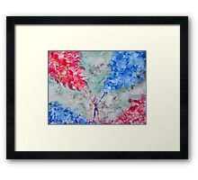 CONNECTING THE BLUE AND THE RED FORCE Framed Print