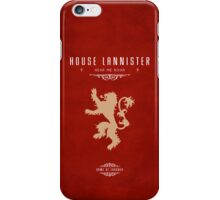 House Lannister iPhone Case iPhone Case/Skin