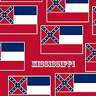 Iphone Case - State Flag of Mississippi - Horizontal III by Mark Podger