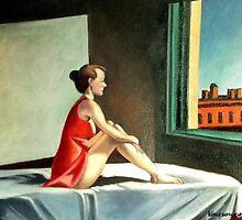 Morning sun after E. Hopper by Kostas Koutsoukanidis