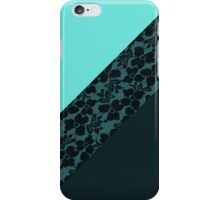 Girly Aqua blue Turquoise Color Block Flower Lace iPhone Case/Skin