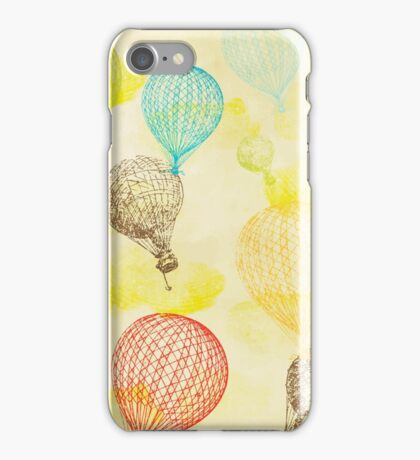 Vintage Hot Air Balloons iPhone Case/Skin