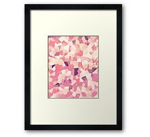 Mod Geometric Abstract Pattern Pink Retro Pastel Framed Print