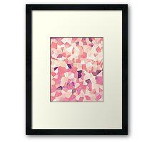 Mod Geometric Abstract Pattern Pink Retro Pastel Framed Print