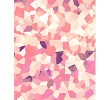 Mod Geometric Abstract Pattern Pink Retro Pastel Photographic Print