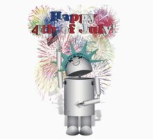 Lady Liberty Robo-x9  Celebrates Independence by Gravityx9