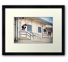 Stefan Janoski - 180 then Switch Ollie Framed Print