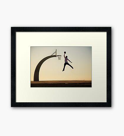 Mike Mo - Dunk Framed Print
