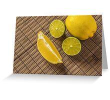 Lemons and limes Greeting Card