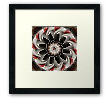 Earth Tone Abstract of Symmetry Framed Print