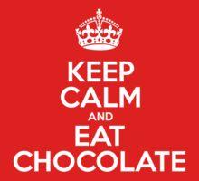 Keep Calm and Eat Chocolate - Red Leather Kids Tee