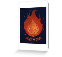 She Likes My Spark! Greeting Card