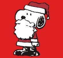 Santa Claus Snoopy Kids Tee