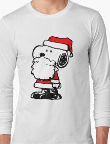 Santa Claus Snoopy Long Sleeve T-Shirt