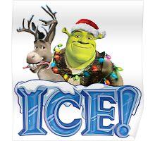 CHRISTMAS SHREK ICE Poster