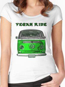 VW Vegan ride Women's Fitted Scoop T-Shirt