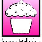 happy birthday cupcake by maydaze