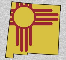 New Mexico Flag [Blk] | State Line | SteezeFSC by FreshThreadShop