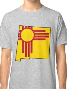 New Mexico Flag [Blk] | State Line | SteezeFSC Classic T-Shirt