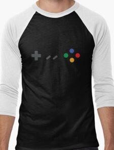 Super Nintendo (SNES) Controller Men's Baseball ¾ T-Shirt