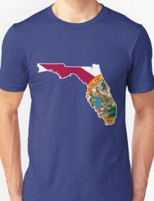 Florida Flag [Wht] | State Line | SteezeFSC Unisex T-Shirt