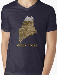 Drink Local (ME) Mens V-Neck T-Shirt